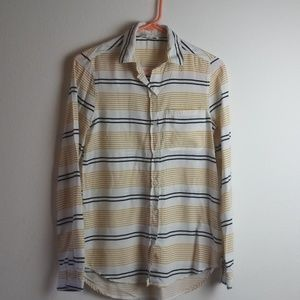 Beachlunchlounge LS Striped Button Up Blouse(XS)